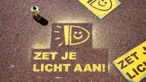 fietsverlichtingsactie-sjabloon
